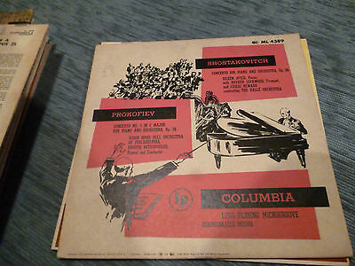 Shostakovitch Prokofiev Colubia USA ML 4389