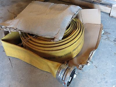 """5"""" fire hose snap tite 100' roll tested last year"""