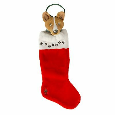 Holiday Dog Stocking Basenji
