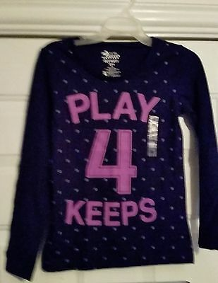 NWT Girls Size 8 Old Navy/Purple Cotton Long Sleeve Shirt