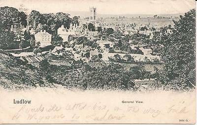 Old Undivided Back Postcard General View Of Ludlow 1903 Duplex Ludlow Postmark