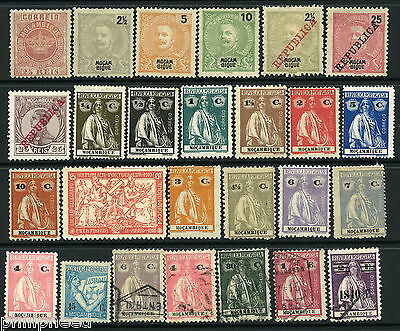 Portugal Mocambique Mozambique x26 old stamps mint hinged & used [N200