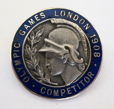 Competitor's badge 1908 London Olympic Games