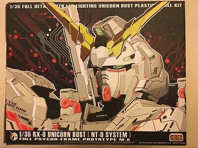 New 1/35 Unicorn RX-0 Head Bust Model Kit +LED System Metal Parts Ship Now