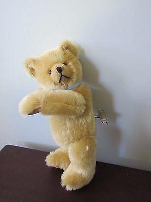 Schuco Musical Teddy Bear 10in Gold mohair, fully jointed, No Reserve!