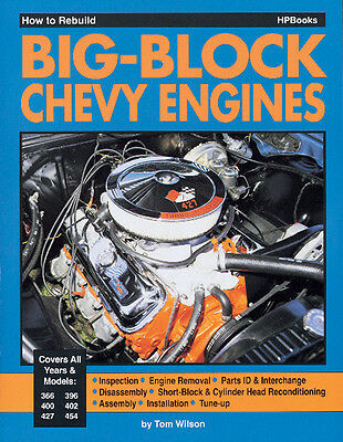 How to Rebuild A Chevy 454, 427, 402, 396 Big Block Engine Book – HP755
