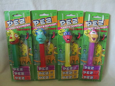 Pez - Pez-A-Saurs - Complete Set Of 4 - 1994 - New Unopened Cards