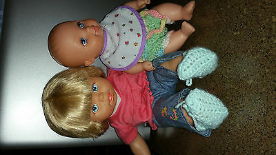 Fisher price Little Mommy doll Lauer water baby lot used nice (II)