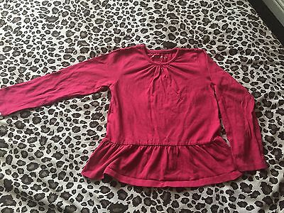 Girls Pink Long Sleeve Top Size 5-6 Years