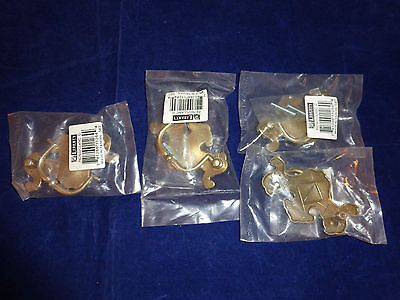Four Liberty Hardware Furniture Drawer Pulls, Antique Brass Look, NIP