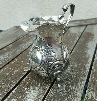 Splendid George II Solid Silver Cream Jug London 1746 Poss. by William Reeves