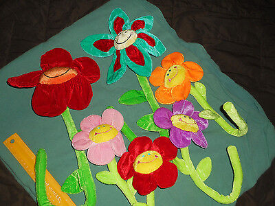 Animal Alley Sunflowers (6) New Plush Bendable Colorful Flower Crib Wrap Toys