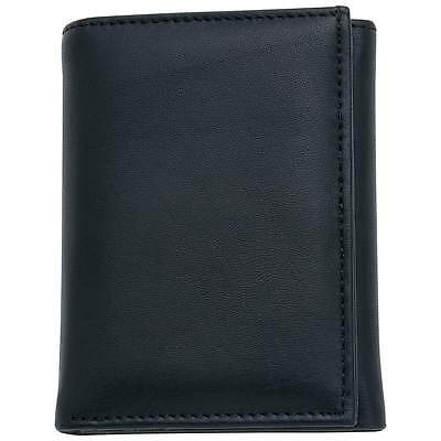 Embassy™ Men's Solid Genuine Leather Tri-Fold Wallet - New