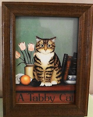 "Framed ""Tabby Cat"" By Philip Howard"