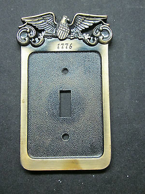 1 Vintage 1776 patriotic brass General GE switch plate cover eagle shield arrows