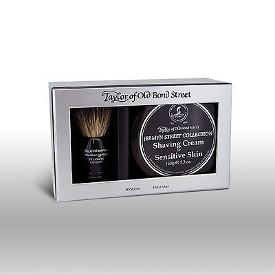 Taylor of Old Bond Street Jermyn Street Shaving Brush and Shaving Cream Giftset