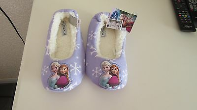 Next Disney Frozen Lilac Older  Kids  Slippers UK Size 4 EUR 37 £12 -  Anna Elsa