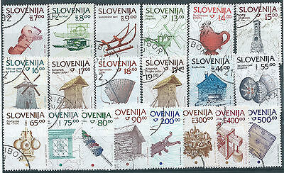 Small lot of Slovenia definitive used stamps