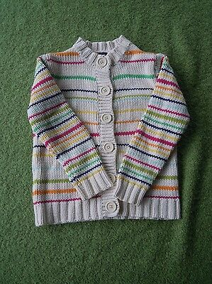 Baby Gap Striped Cotton Cardigan. Age 3 Years.