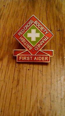 British Red Cross Society Trained First Aider Pin Badge.