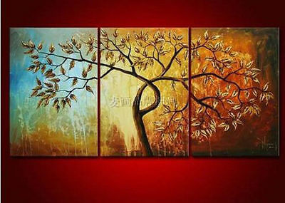 HUGE WALL DECOR MODERN ART OIL PAINTING ON CANVAS (No frame)3PC Abstract