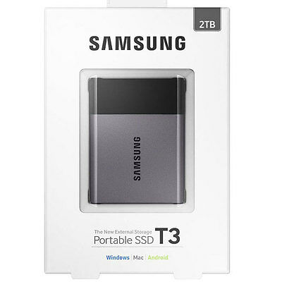 SAMSUNG T3 Portable 2TB SSD USB 3.1 External Solid State Drive - New sealed