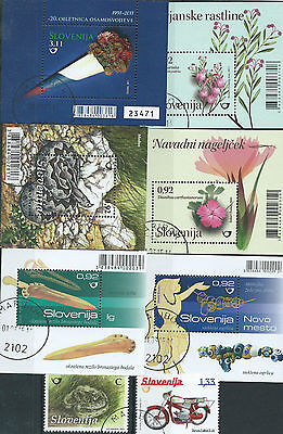 Small lot of Slovenia used stamps - 2 scans