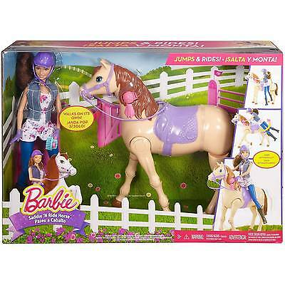NEW - Barbie Saddle N' Ride Horse Riding Doll Playset
