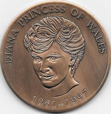 Princess Diana Commemorative Medal in bronze.