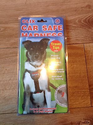 Clix Dog Car Harness In Black Size Medium New Other Boxed