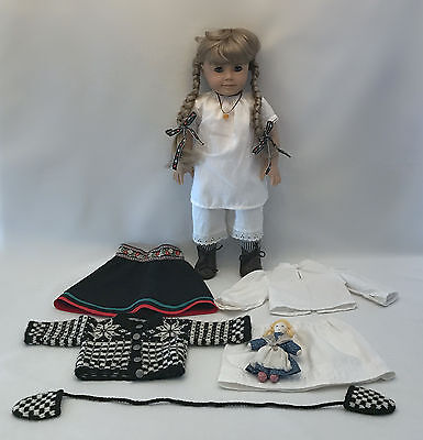 """American Girl 18"""" Kirsten Doll Pleasant Company Winter Outfit Long Underwear"""
