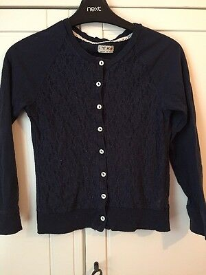 Navy Girls Lace Cardigan From Next Age 10.
