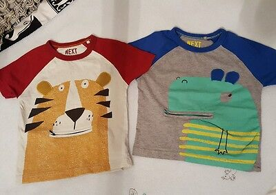 2 boys Next short-sleeve t-shirts, age 18 months - 2 years