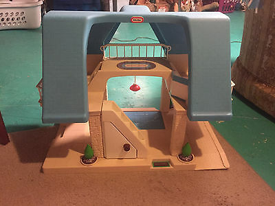Little Tikes Blue Roof Doll House Vintage