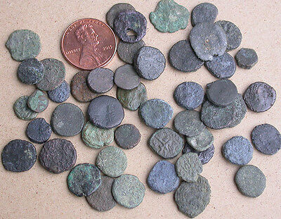 Lot of 45 Ancient Roman Coins - Late 4th Century Through Early 5th Century A.D.