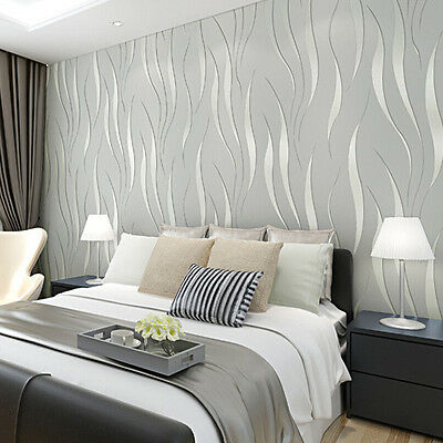 Hot Wallpaper Fashion 3D Non-Woven Bedroom Stickers Living Room TV Background