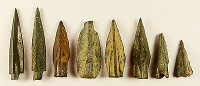 SUPERB LOT OF 8 Ancient Greek Scythian Arrow Heads Bronze 5th c BC