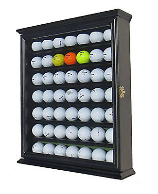 49 Golf Ball Wood Glass Door Display Case Cabinet Vintage Wall Holder Showcase