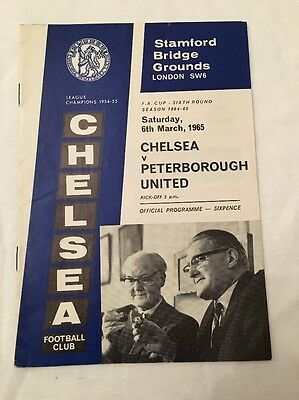 Chelsea V Peterborough United 6th March 1965