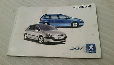 PEUGEOT 307 - 2002 UK OWNERS MANUAL HANDBOOK.  Petrol & Diesel / SW / Sport