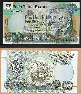 Northern Ireland - First Trust Bank - £100 note - LAST PRINT - 1998 - Licence