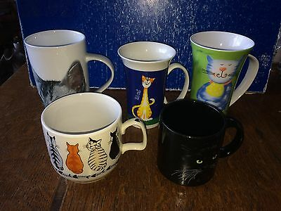 5 Cat Mugs: Create By Just Mugs Ethos Luther Studio X