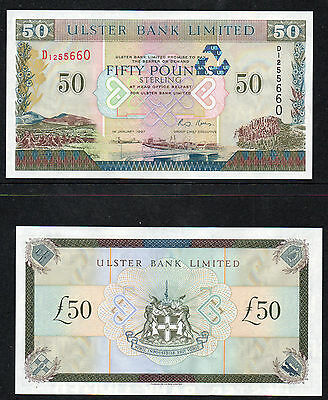 Northern Ireland - Ulster Bank £50 notes - 1997 - Kells - In sequence - UNC
