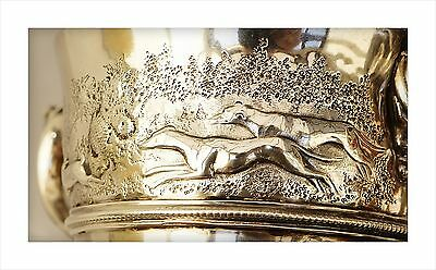 Rare 1793 George III Irish Sterling Silver Hare Coursing Trophy. Hare & 2 Hounds