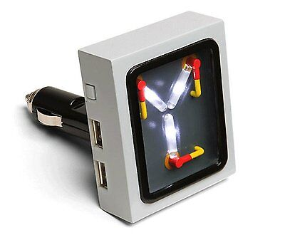 Back To The Future Car ChargerFlux Capacitor Dual Port USB Novelty Gift New