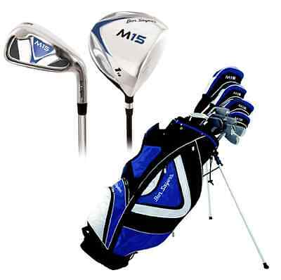 Ben Sayers M15 Golf Package Set Right Hand Blue Stand Bag Steel Irons