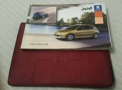 Peugeot 206 Owners Handbook/Manual with case 02-04