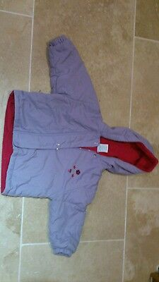 Mackays Little Girls PPurple Coat Aged 12-18 months