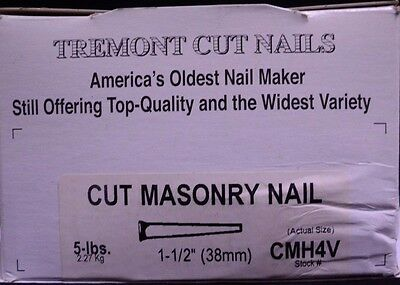 Tremont Cut Nails, 4d, 5 LB, apx 600+ Nails, For Restoration & Craft Projects