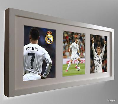 2015/16 Signed Cristiano Ronaldo Autographed Real Madrid Photo Picture Frame WT